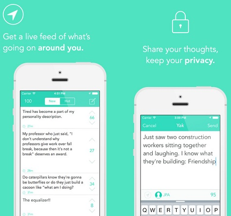 Yik Yak Screen