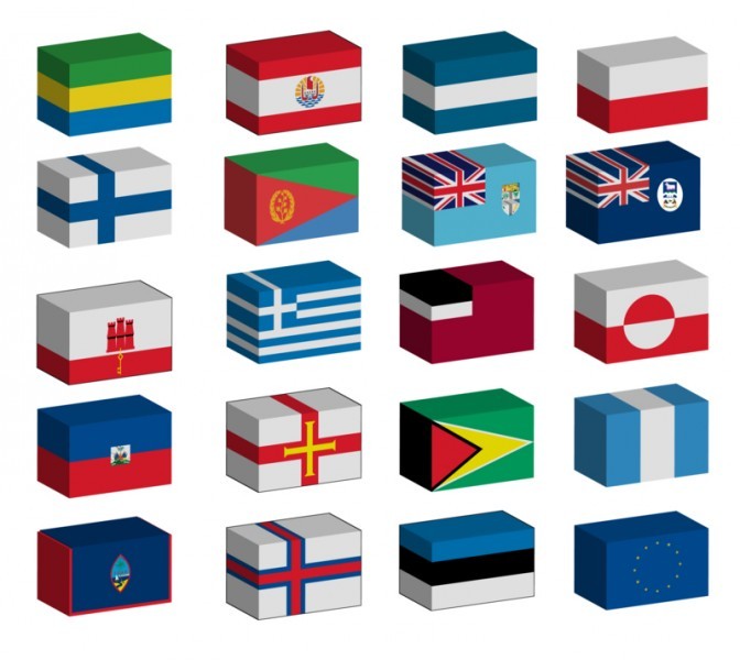 3D World Flags